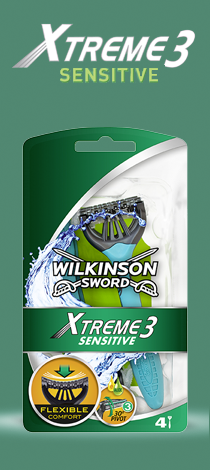 Wilkinson Sword Xtreme 3 Sensitive disposable razor